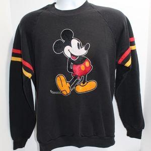 Vintage MICKEY MOUSE Sweatshirt Disney 80's Velvet